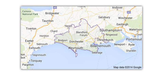 map of bournemouth