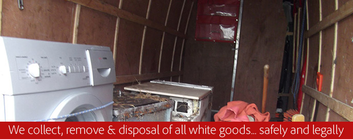 white goods collection removal and disposal service